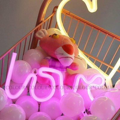 新品上市 LED LOVE款 光管字體霓虹燈 暖白/粉光 氣氛神器 個性裝飾 婚慶用品※ COLOUR歐洲生活家居※