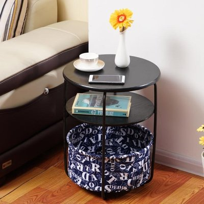 北歐小茶幾簡約迷你創意邊幾現代客廳沙髮邊櫃圓形臥室床頭小桌子 WD    全館免運