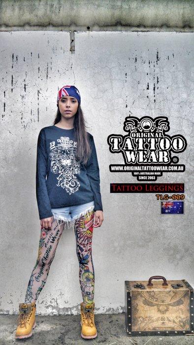 澳洲原創紋身衣著ORIGINAL TATTOO WEAR 100%防曬紋身褲 運動長褲 瑜珈褲 跑褲 (非紋身袖套)