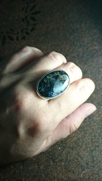 寶石《甄藏》橢圓型彼得石925純銀戒指