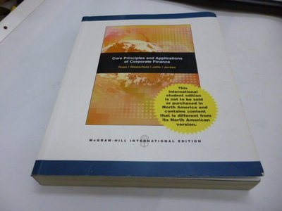《Core Principles and Applications in Corporate Finance》ISBN:0071107339│McGraw-Hill