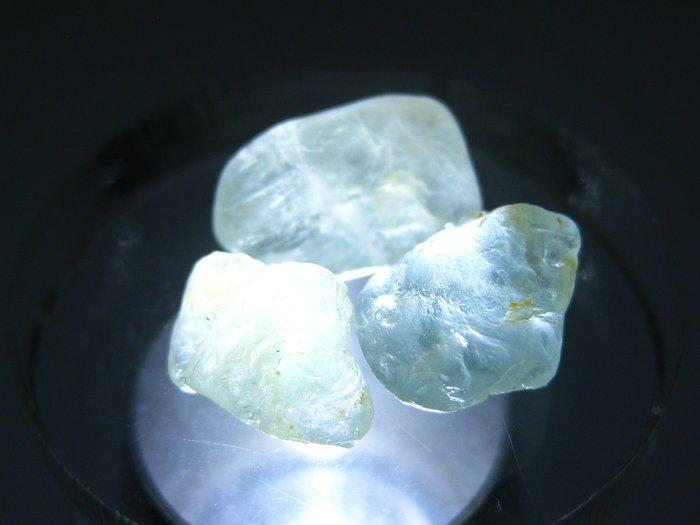 拓帕石 Topaz 天然無燒無處理 自然藍 原礦 標本 礦石 24【Texture & Nobleness 低調與奢華】