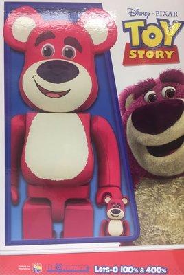 BE@RBRICK Lots-o 100% & 400% 勞蘇 Bearbrick Toy Story Disney Pixar
