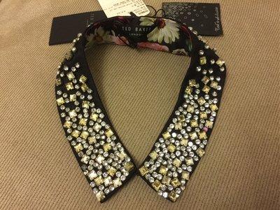 英國 全新 Ted Baker 假領 仿水晶 手工縫製 領裝飾