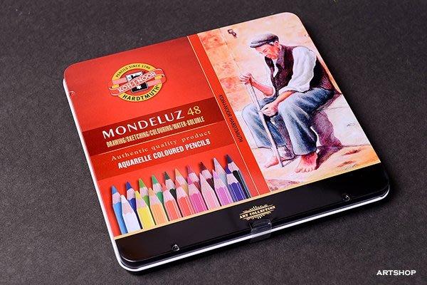【Artshop美術用品】捷克 KOH-I-NOOR MONDELUZ 頂級水性色鉛筆 (48色) 鐵盒