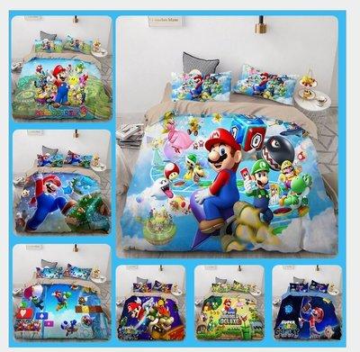 暖暖本舖 瑪莉兄弟 馬力歐床包 瑪莉歐 馬里奧 可傳照片給我們 可以幫您訂製專屬喜歡的床包喲