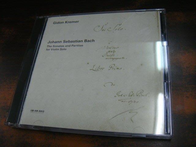 好音悅 Kremer 克萊曼 Bach 巴赫 巴哈 無伴奏小提琴 奏鳴曲 組曲 2CD ECM SHM-CD 日版