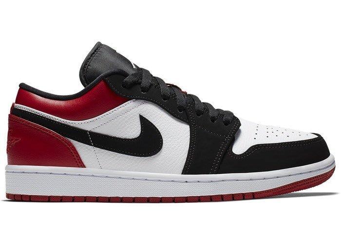 【美國鞋校】預購 Jordan 1 Low Black Toe 553558-116