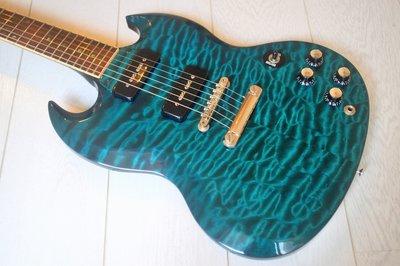 Gibson CUSTOM SHOP Order SG Elegant Quilt /5A極上雲紋。prs fender