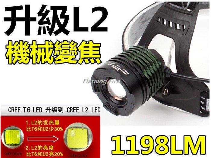 正版 FR-V9 機械旋轉變焦 美國CREE XM-L2晶片 鋁合金頭燈 露營 釣魚 雙18650版本1198LM