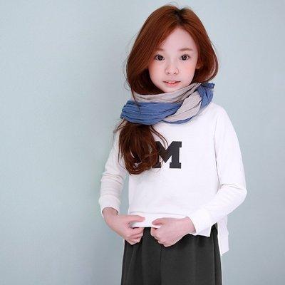 中大童 優質 女童【Q寶童裝】春款 DM-060 優質 中大女童 M字休閒印花 T恤 上衣