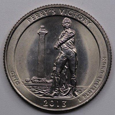 錢幣收藏屋`(衍蚨軒)全新美國國家公園幣第17枚俄亥俄州公園25美分24mm-834
