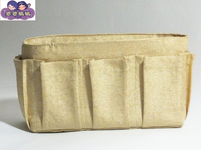 【露西小舖】╭*手作限量(素面閃金)❤日雜熱銷款❤袋中袋包中包收納袋收納包多功能袋多功能包整理袋整理包手拿包分類包(中)