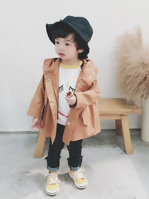 男童外套春秋寶寶正韓上衣1 3 5歲兒童秋季連帽風衣潮衣