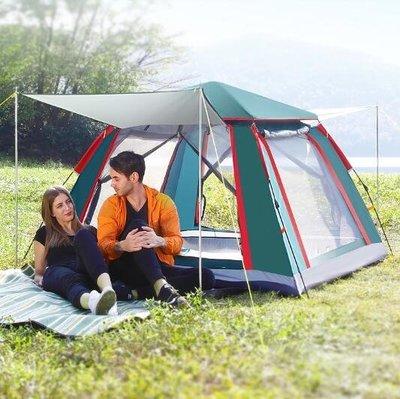 戶外帳篷 探險者全自動帳篷戶外2-3-4人二室一廳加厚防雨單人野營野外露營T