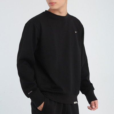 FOC  Nike Standard Issue 刺繡 小勾 混紡 排汗棉 大學T 素長T CK6359-010 衛衣