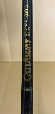 CASTAWAY GRAPHlTE RODS The Mickey  6ft  槍柄路亞竿  (1本竿) 美國製