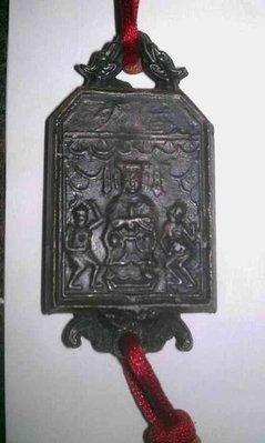 ~ 北港朝天宮 天上聖母 媽祖 (錫)百年香火牌~博物館級~完美的老包漿