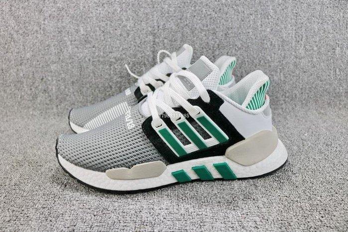 Adidas EQT Support91/18黑白綠 經典 編織 休閒運動慢跑鞋 男鞋 AQ1037