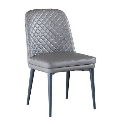 【在地人傢俱】20 幸福購-1519灰色皮面餐椅/休閒椅 CS933-4