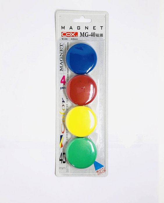 『磁鐵』COX 三燕 彩色圓形磁鐵 30mm/40mm