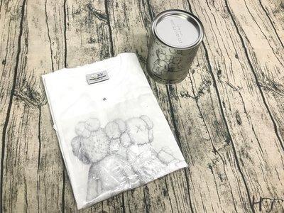 HJ - Kaws SEEING/WATCHING Canned T-shirt - 白 造型鐵罐 限量珍藏款