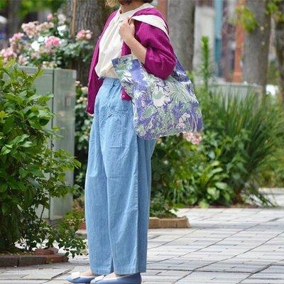 日本Bliss bunch亞麻棉口袋寬褲(現貨 靛藍)
