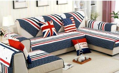 【RS Home】[70x70cm] 沙發墊沙發套沙發巾沙發罩床墊床前墊床旁電視櫃墊客廳地墊 [英倫風]