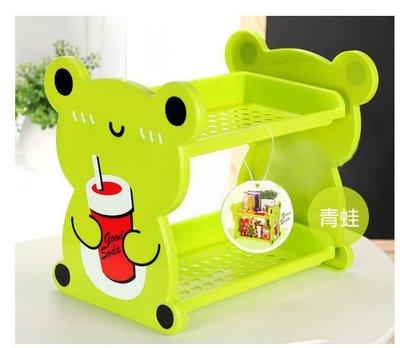 ~佈置兒童房不可缺的可愛卡通動物 雙層架 CD架 鞋架 玩具架 兒童書架