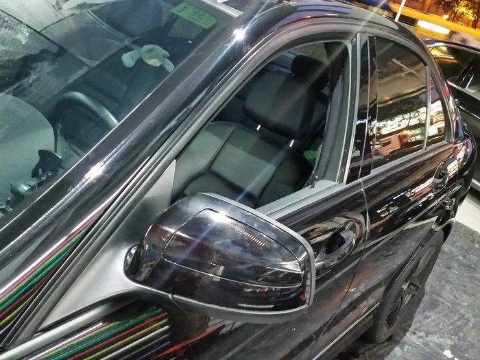 M~Benz C~Class Sedan 窗框貼膜 鍍烙貼膜 水切貼膜 c300 c250
