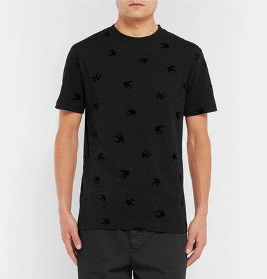 英倫風格時尚 MCQ ALEXANDER MCQUEEN Swallows T-Shirt 品牌經典滿版燕子上衣