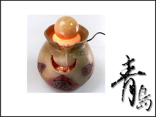 。。。青島水族。。。A-055開運流水&陶藝流水&滾滾流水&開店送禮==泉湧布袋魚(配6cm貓眼球)免運費