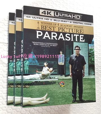 Lucky 1of1收藏正版藍光 Parasite 寄生上流蟲 4K UHD 2碟BD100奧斯卡US紙套