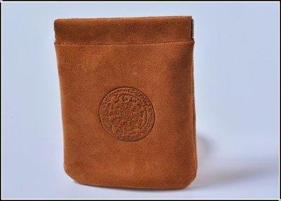 【雅之賞|佛教|藏傳文物】 * 純牛皮文玩袋 手串佛珠等文玩盤珠袋保護收納袋~303336