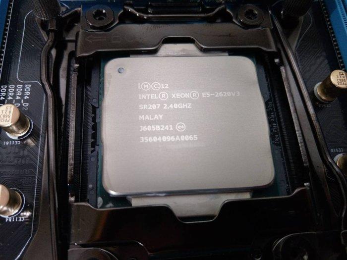 買CPU送主機板再送16g記憶體 伺服器 6核12緒 E5-2620 v3+ASROCK X99 WS 華碩 伺服器
