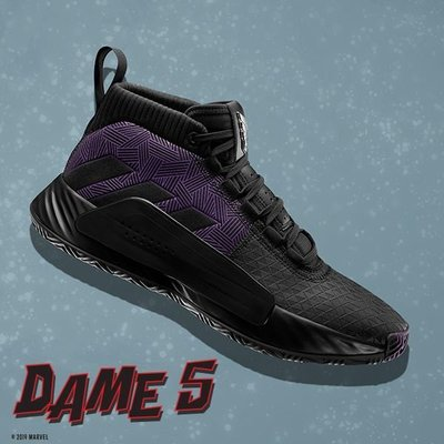 日本代購 Marvel x adidas DAME 5 'Black Panther' EF2523 男鞋(Mona)
