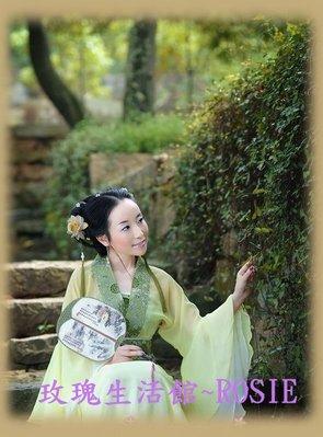【演出show】~  ~花袖漢妃服~ 黃,紅,藍,綠,白 ,紫