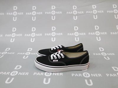 【Dou Partner】VANS ERA Authentic 基本款 紅標 黑白 男女鞋 VN000EE3BLK