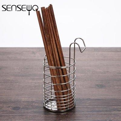 304不銹鋼筷子筒掛式瀝水筷筒筷籠架創...