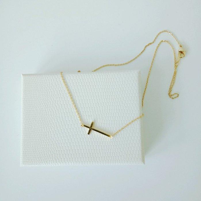 【BJGO】橫十字架鈦鋼項鍊 鎖骨鍊  送禮自用 禮物