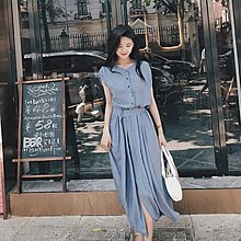 YOHO小編推薦款連身裙 (19JHL0715-12) 韓超有垂感氣質雪紡連身裙 小碎花短袖洋裝 S-XL 有3色