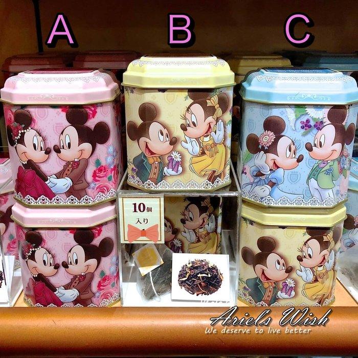 Ariel's Wish日本東京迪士尼限定米奇米妮婚禮小物探房禮伴娘禮Tiffany藍粉紅色黃色茶葉禮盒珠寶盒-三款現貨
