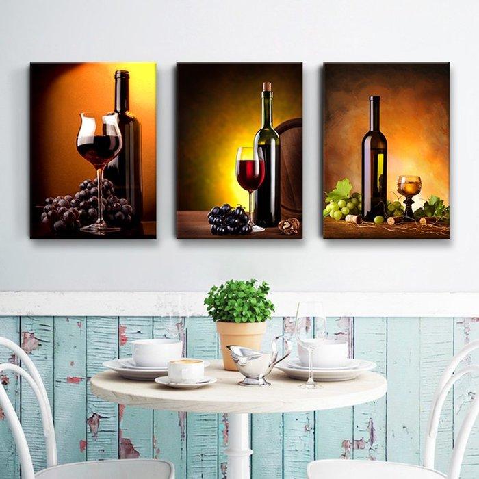 居家裝飾 掛畫 無痕釘安裝 不傷墻面 現代餐廳裝飾畫飯廳掛畫簡約單聯水果壁畫有框酒杯墻畫餐廳背景墻