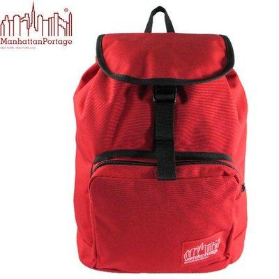 ↘下殺5折↘Manhattan Portage 曼哈頓包 後背包 潮流束口後背包 1219-RED 紅色 得意時袋