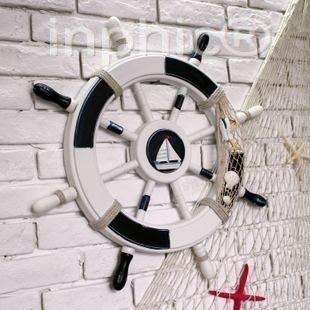 INPHIC-地中海風格 海洋壁飾 船舵家居裝飾品 壁掛 舵手掛飾 掛飾 擺飾