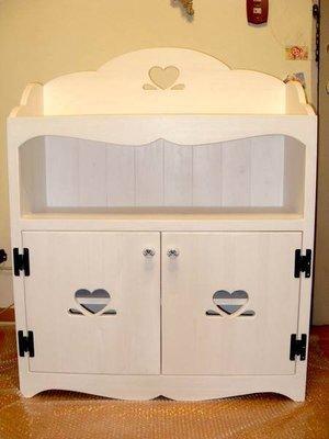 松木 實木  收納櫃 置物櫃**樂在幸福**木作坊~A19~松木刷白收納櫃