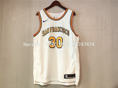 保真史蒂芬·柯瑞(Stephen Curry) NBA金州勇士隊 球衣 30號 球員版 白色