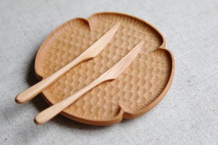 發現花園日本選物 ~ 日本製 木工職人 高塚和則 手做 甜點小叉  和果子叉