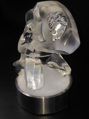 @寶瓏閣@ 晶湛坊~法國 LALIQUE 萊儷,男性香水瓶:角力~上蓋(九成新),絕版珍稀藏品 !!!
