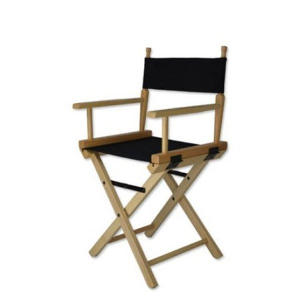 5Cgo【鴿樓】會員有優惠 10096266712 進口實木黑色原色高檔化妝椅導演椅折疊便攜式戶外椅 凳子椅子-矮腳款